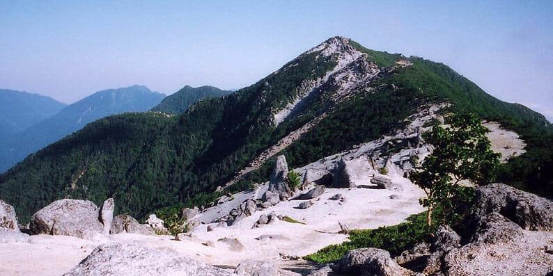 南アルプス 鳳凰三山の道