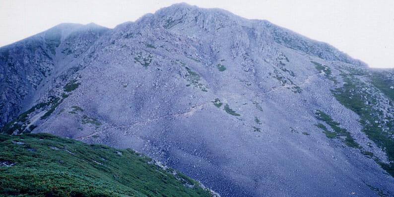 南アルプス百閒平より赤石岳