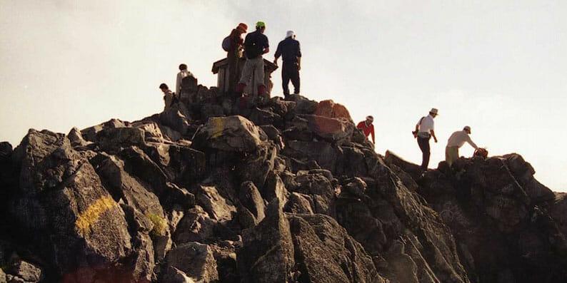 北アルプス剣岳頂上