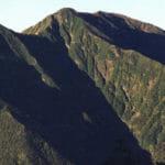 南アルプス百閒平より聖岳