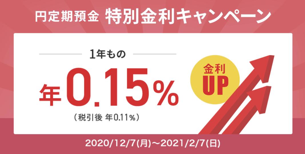 住みし銀行金利キャンペーン