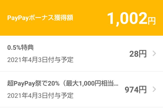 PayPay取引履歴詳細