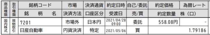 PayPay証券日産取引1